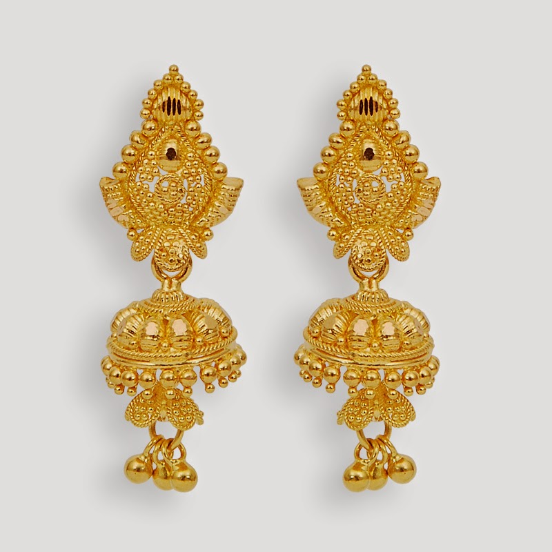 FREE ALL HD WALLPAPERS DOWNLOAD: New Bridal Gold Jhumka Designs ...