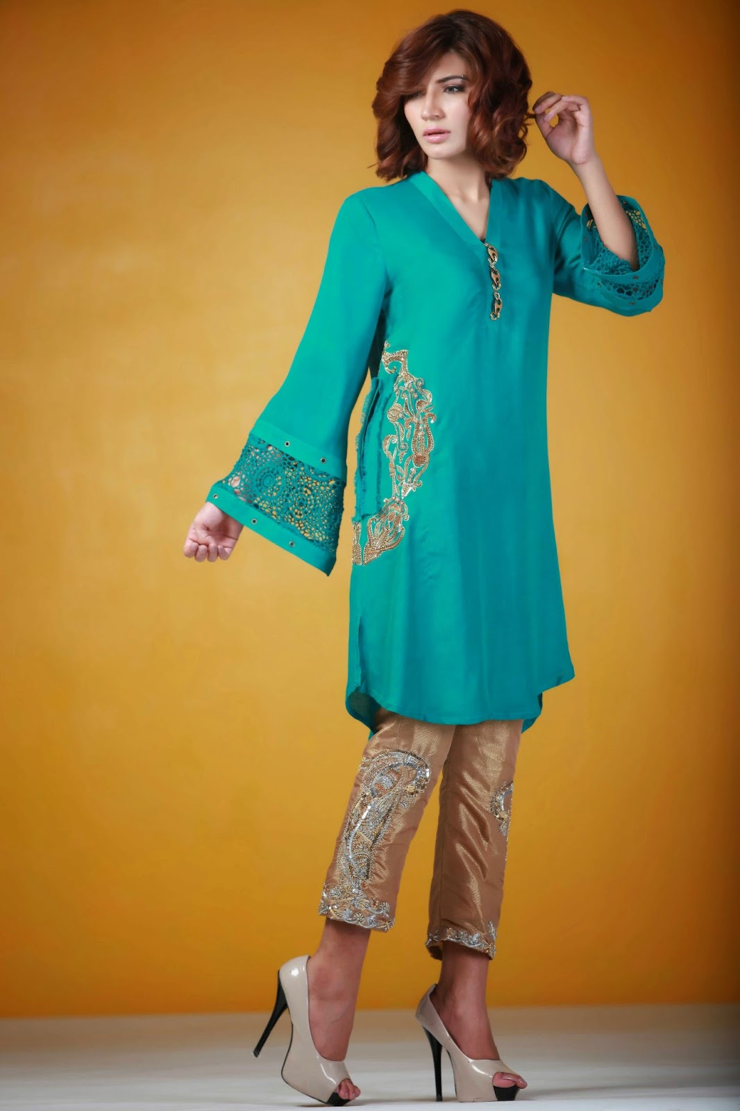 Ayesha Somaya embroidered formal trousers
