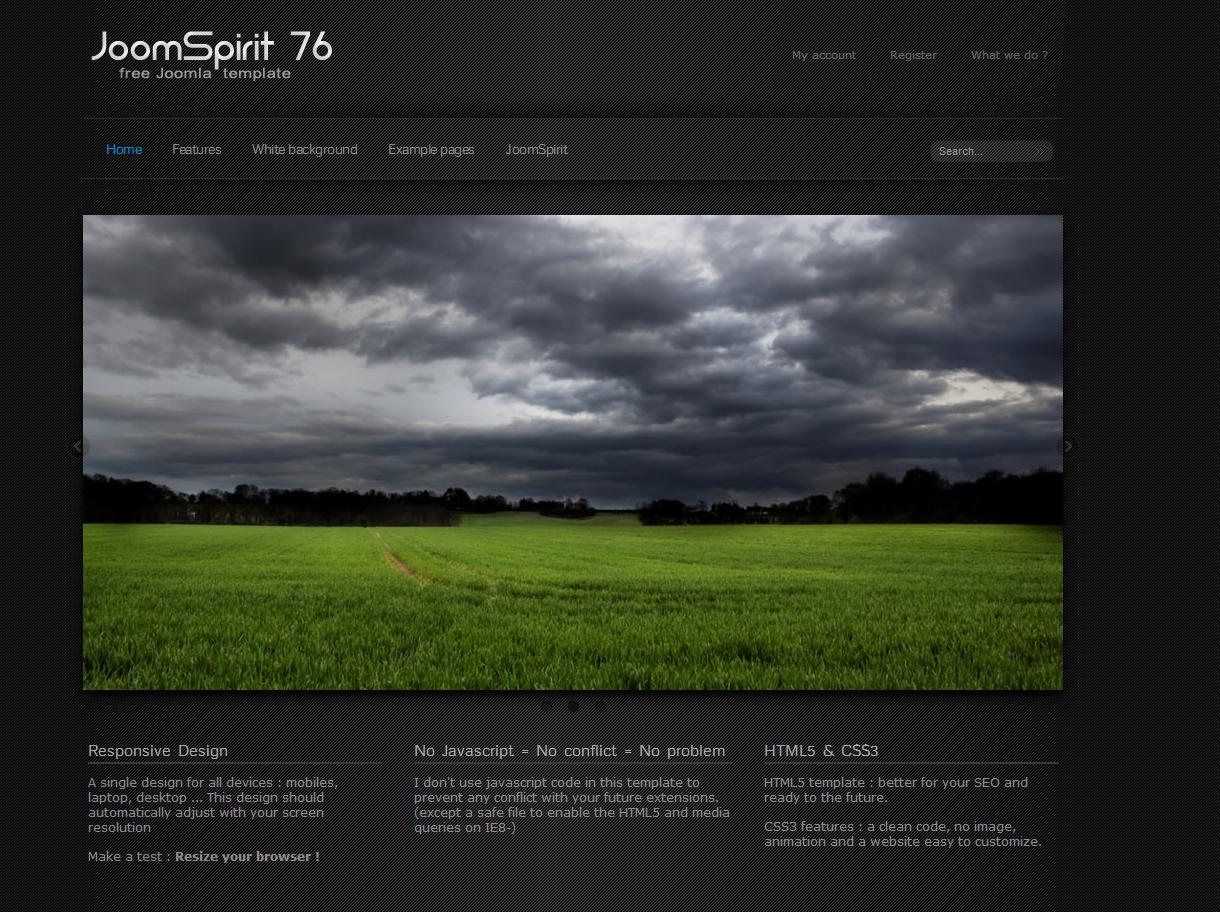 JoomSpirit 76 Free Joomla Template