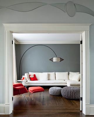 De andar por casas gama de grises para tus paredes White grey interior design