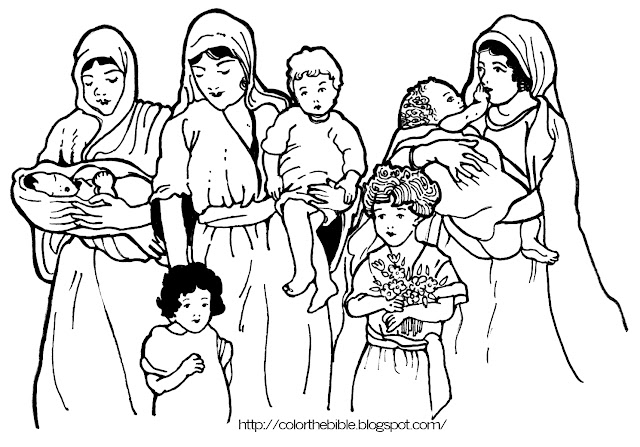 Angel Gabriel And Mary Coloring Sheet