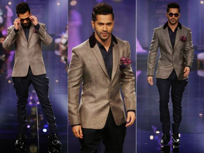 Varun Dhawan in Lakme Fashion Week 2014