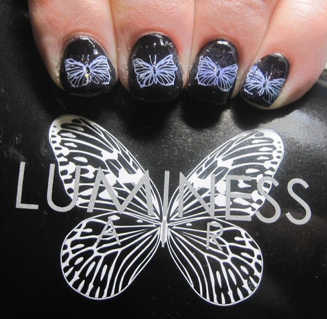 Luminess Air-inspired nail art