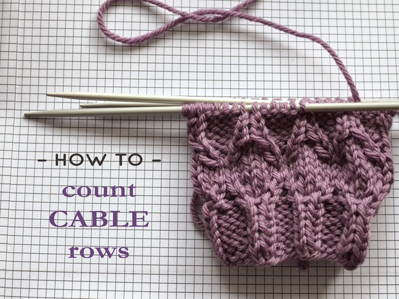 how to count cable rows - knitting technique