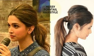 Messy Ponytail Hairstyle For Medium To Long Hair Inspired By