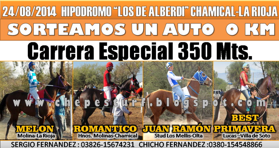 CHAMICAL-CARRERA ESPECIAL 350 MTS