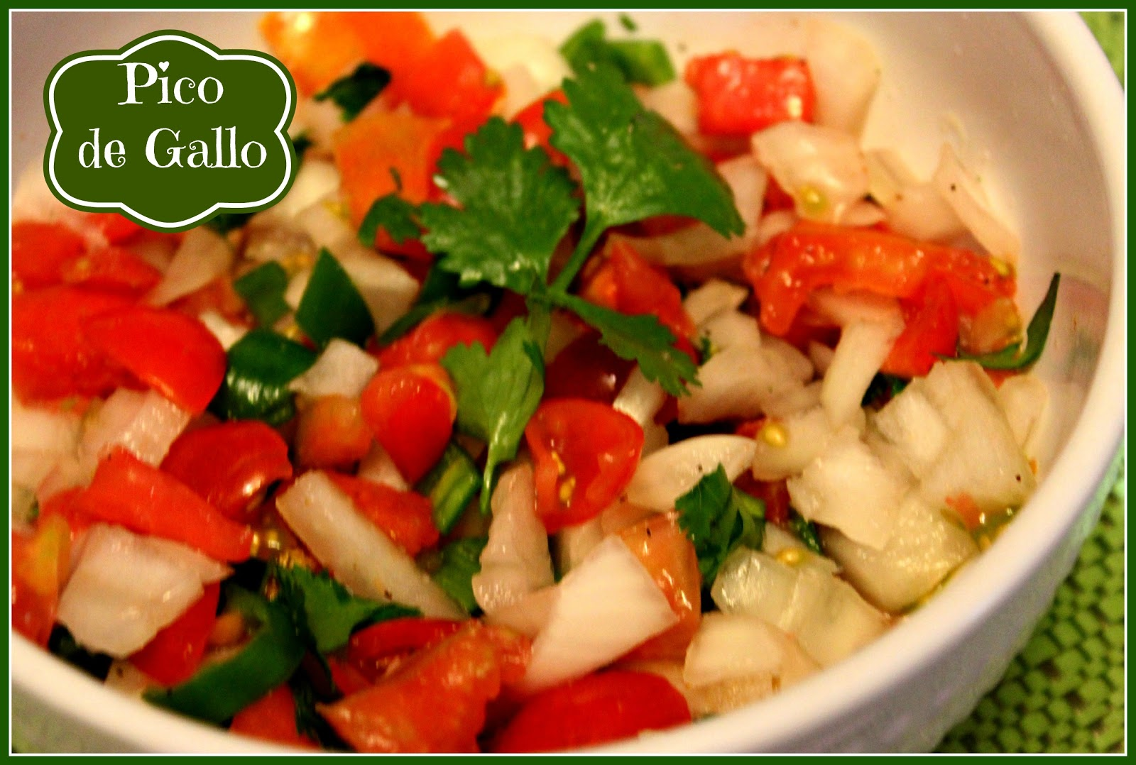 Sweet Tea and Cornbread: Fresh Pico de Gallo!