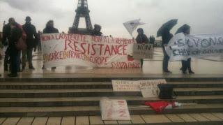 Αλληλεγγύη στις Σκουριές (και) από το Παρίσι