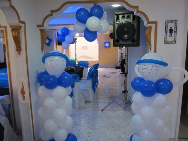 DECORACION CON GLOBOS PARA PRIMERA COMUNION | Fiestas infantiles ...