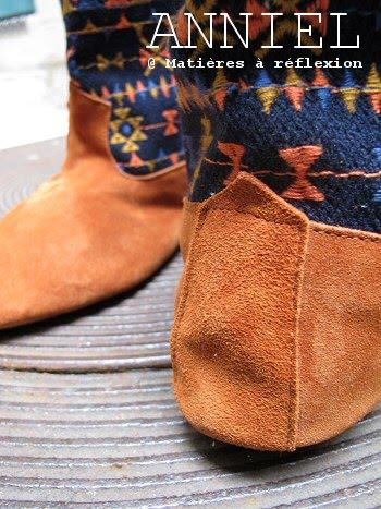 anniel boots fourr es brod es tr s folk mati res r flexion paris. Black Bedroom Furniture Sets. Home Design Ideas
