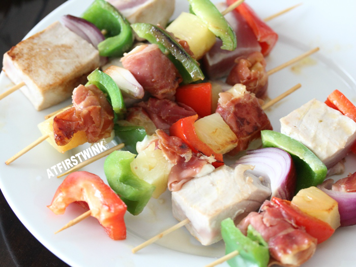 recipe jamón serrano ham and mozzarella cheese skewers and tuna skewers