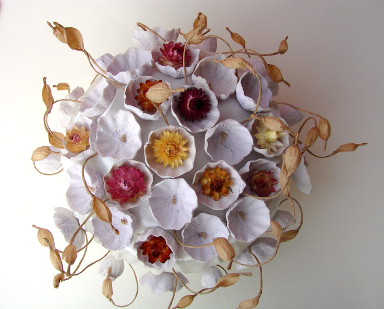 Centrotavola per matrimonio eco-friendly, boho chic. Paper flowers wedding centerpieces