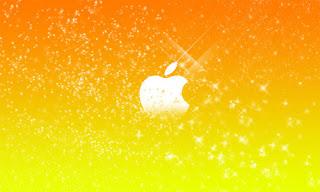 yellow and orange Apple Mac logo
