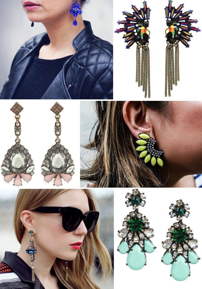 Statement earrings for fall 2012 from H&M, Shourouk, Zara and Romwe