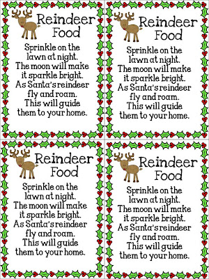 Reindeer Food Poem http://fun-in-first.blogspot.com/2012/12/day-6-of-christmas-freebies.html