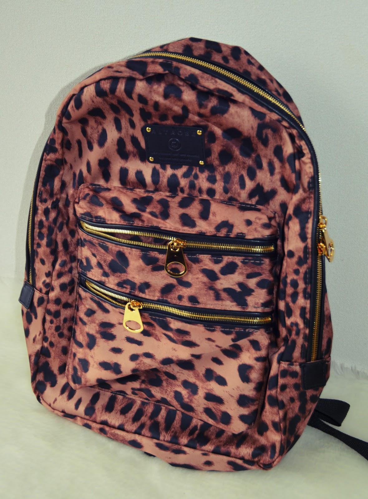 tokyo shopping haul leopard print backpack shibuya109