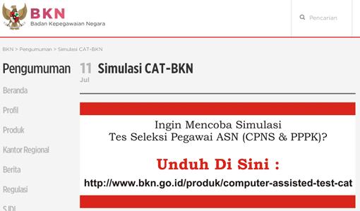 Latihan Soal Cat Cpns Di Bkn Go Id Dunia Info Dan Tips