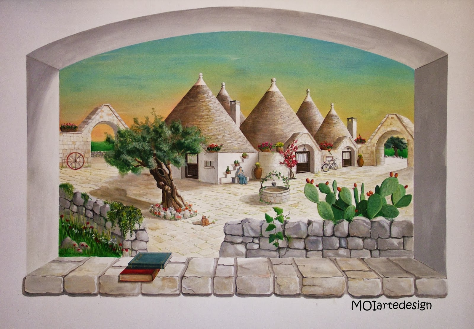 Moi corso di pittura impara l 39 arte e fanne buon uso - Pittura su muro interno ...