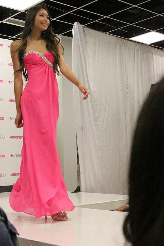 Pink Chiffon Prom Dress 2015