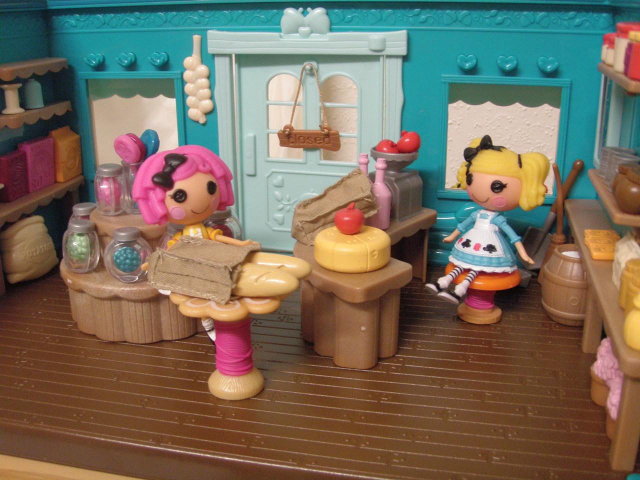 Lalaloopsy Toy Food : Jane chérie li l woodzeez and lalaloopsy mini dolls