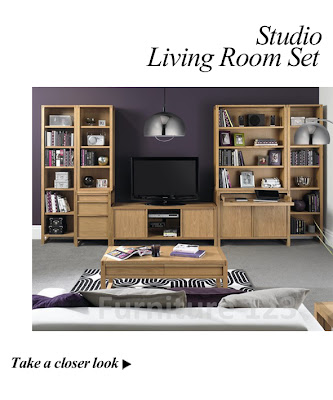 Studio Solid Oak Living Room Furniture Set from Furniture123
