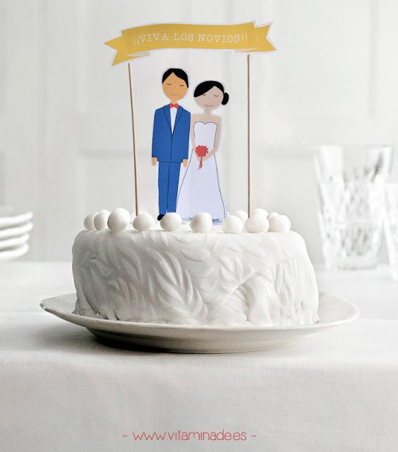 cake topper novios