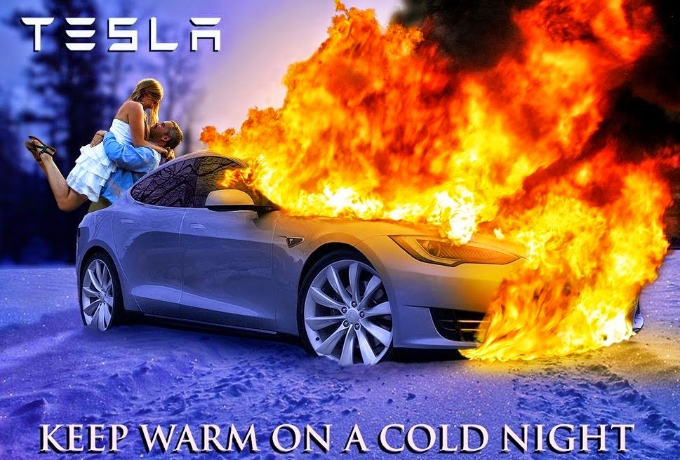 Image result for exploding tesla