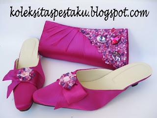 Tas Pesta dan Sandal Matching