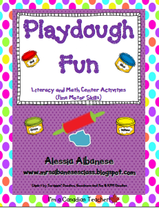 http://www.teacherspayteachers.com/Product/Playdough-Fun-Literacy-and-Math-Center-Activities-133413