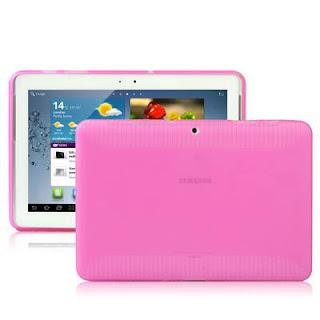 TPU Case (Semacam Silicon Case/ Jelly Case) Dengan Anti Slip Texture Untuk Samsung Galaxy Tab 2 10.1 P5100 - Magenta