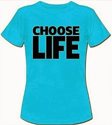 "Ladies ""Choose Life"" Retro 80s Wham T-Shirt (choice of colours)"