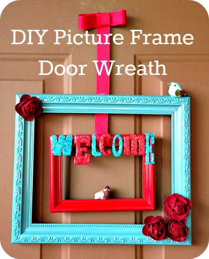 Unfolding Creatively: DIY :: Picture Frame Wreath + Planter Spruce-Up