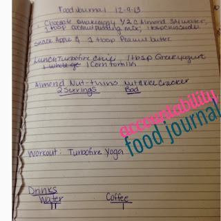 Keep a food journal to stay on track