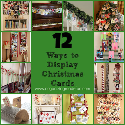 Christmas Organizing: Christmas Card Display | Organizing Made Fun ...