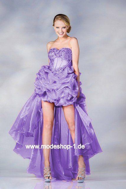 Vokuhila kleid lila