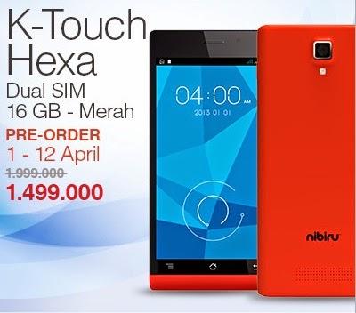 K-Touch Hexa Smartphone Murah Rp 1.499.000