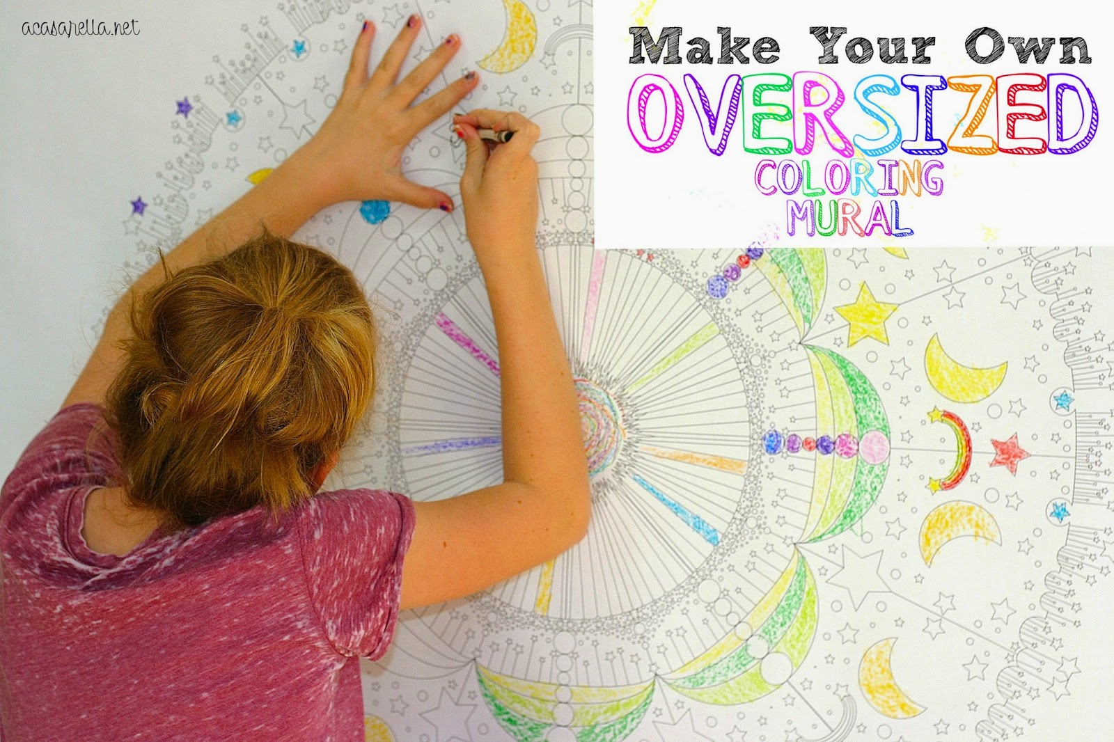 DIY Oversized Coloring Mural Part 93
