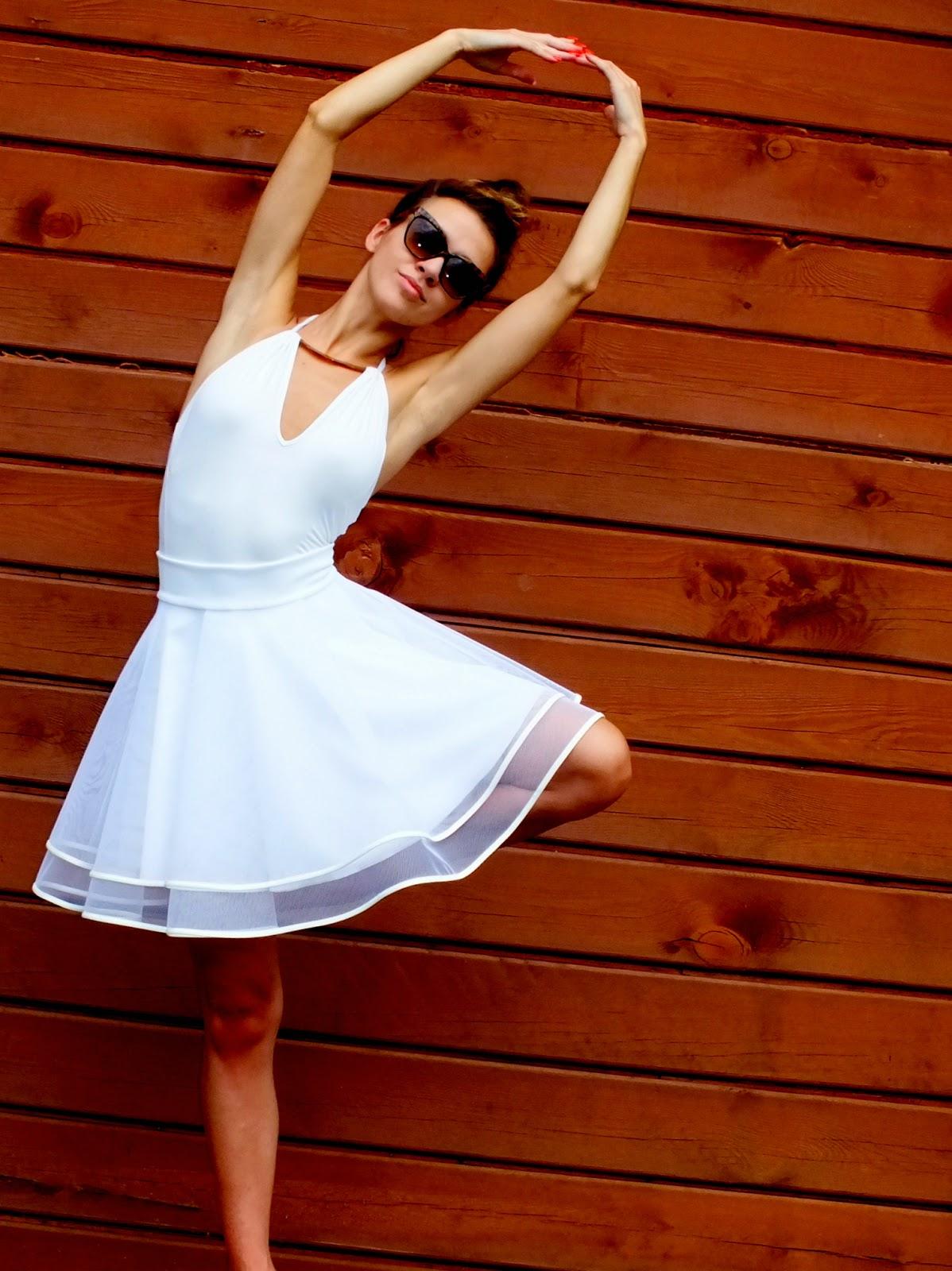 spódnica tiulowa z koła, biała spódnica tiulowa