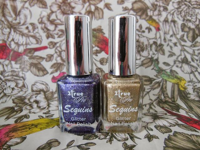 2true pro sequin nail polishes