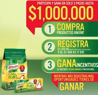 concurso promocion knorr mexico 2013 gana premios efectivo millon de pesos Lo que hay entre tu y Knorr es insustituible