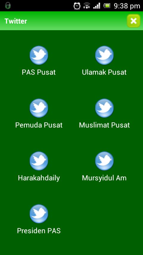 11 Menu Twitter PAS Lancar Aplikasi Android Touch `n Get (TnG)