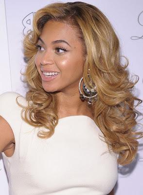 Beyonce Knowles Diamond Hoop Earrings
