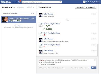 Kode Emoticon Chat Facebook Lengkap dan Terbaru