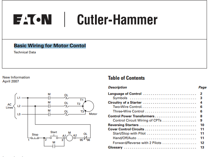 Electrical Engineering Blog Basic Wiring For Motor Control