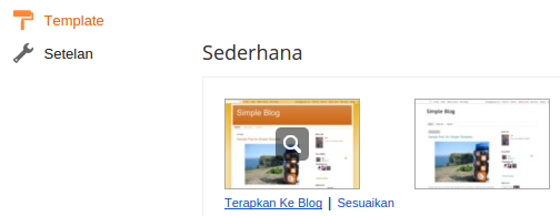 mengganti template blog