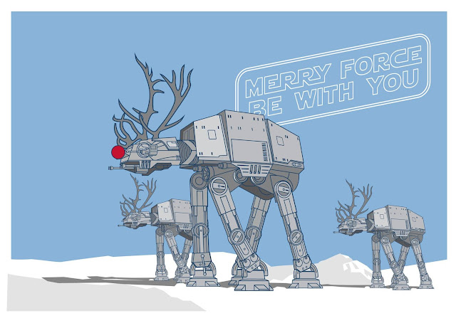 felices fiestas, star wars, at-at