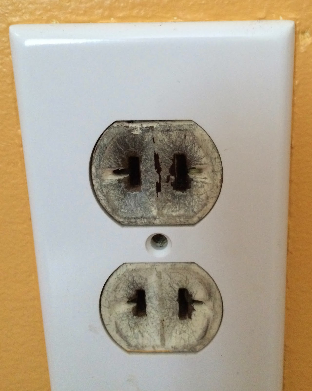 b i redux one last post about electrical stuff the white outlets i removed from the sunroom went to replace old outlets that were just dirty and or painted over it took way longer than i was expecting