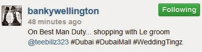 Wedding Things! Banky W and Tee-Billz On Shopping Spree in Dubai  – Photo
