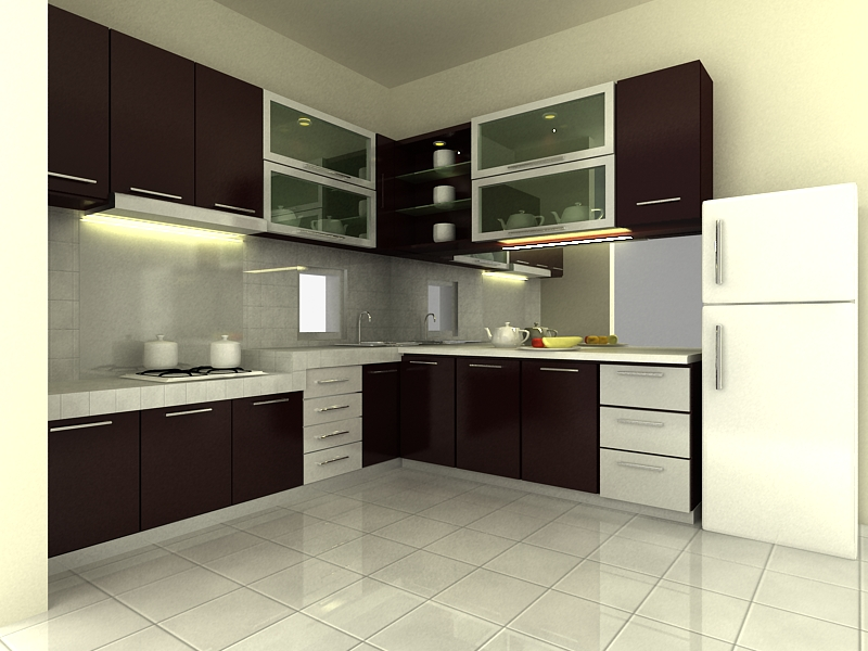 Kontraktor interior rumah harga kitchen set minimalis for Harga kitchen set per meter