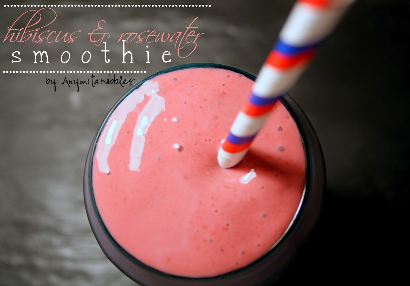 A floral and delicious smoothie